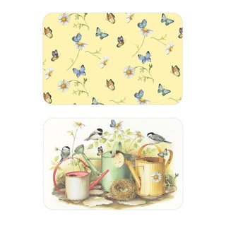 Reversible Chickadees and Butterflies Placemats (Set of 4)