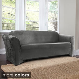 Coverworks Harper 1-Piece Stretch Suede Sofa Slipcover