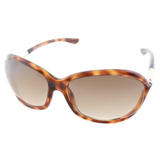 Tom Ford Women's TF 8 Jennifer 52F Dark Havana Plastic Sunglasses