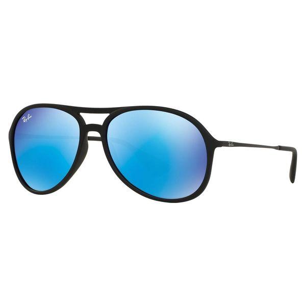 Ray-Ban Men's RB 4201 Alex 622/55 Black Rubber Plastic Aviator Sunglasses