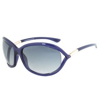 Tom Ford Women's TF 8 Jennifer 90W Shiny Blue Plastic Sunglasses