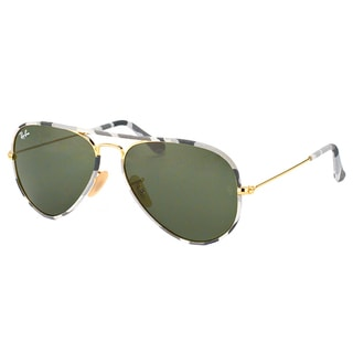 Ray-Ban Unisex RB 3025JM Aviator Camouflage 171 58mm Metal Sunglasses