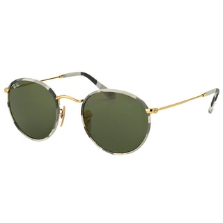 Ray-Ban Unisex RB 3447JM Round Camouflage 171 50mm Metal Sunglasses