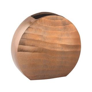 Dimond Home Brown Faux Bois Oval Vase