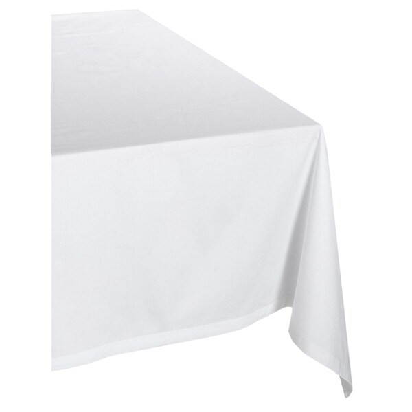 White Poly Tablecloth