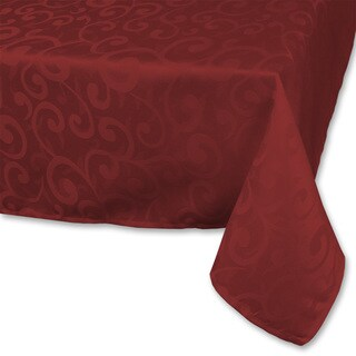 Wine Poly Damask Tablecloth