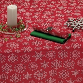 Snowfall Jacquard Tablecloth