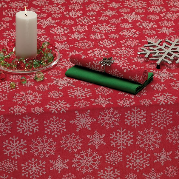 Snowfall Jacquard Tablecloth