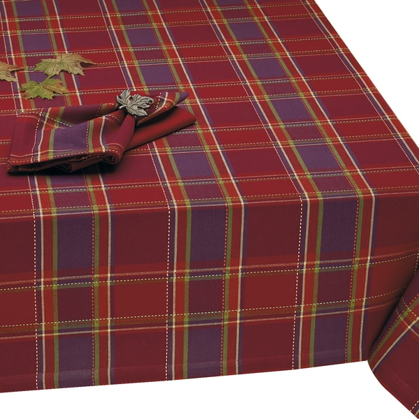 Harvest Dobby Plaid Tablecloth