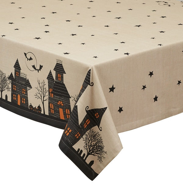 Haunted House Print Tablecloth