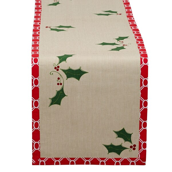 Holly Jolly Printed Table Runner
