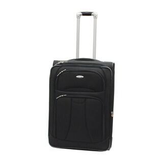 WestJet Navigator Black 26-inch Lightweight Upright Suitcase