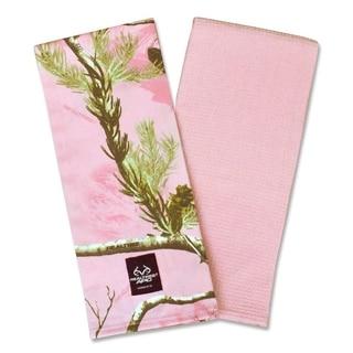 Pink Real Tree Dishtowel (Set of 2)