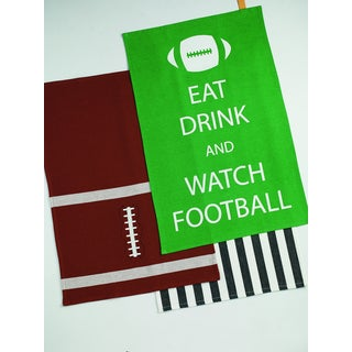 Football Printed Dishtowel (Set of 3)