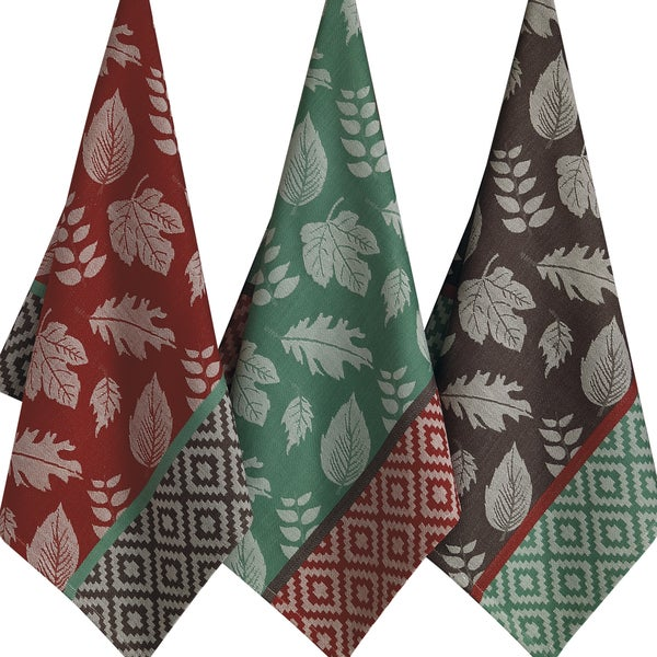 Leaf Deco Jacquard Dishtowel (Set of 3)