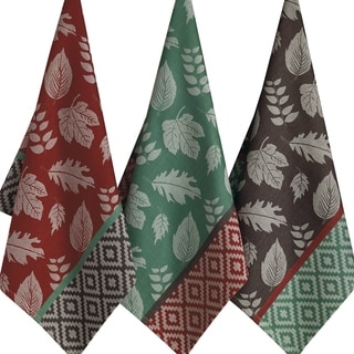 Leaf Deco Jacquard Dishtowel (Set of 3)