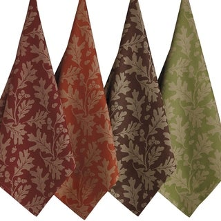 Oak Leaves Jacquard Dishtowel (Set of 4)