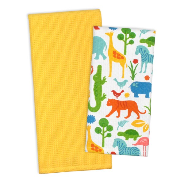 Zoo Dishtowel (Set of 2)