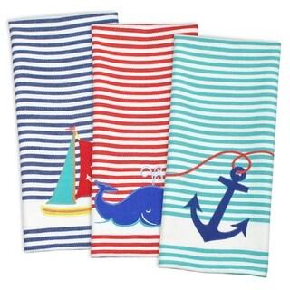 Summer Sea Embroidered Dishtowel (Set of 3)