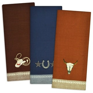 Out West Embroidered Dishtowel (Set of 3)