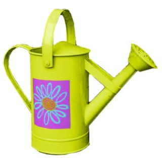 Yellow, Pink Sunburst Watering Can