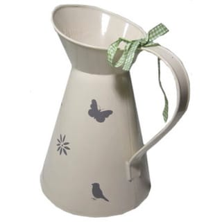 White, Grey Elegance Watering Jug
