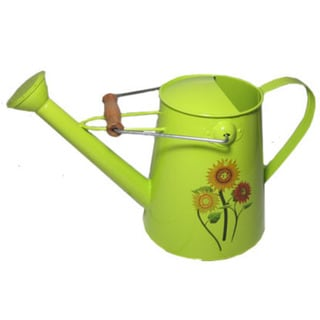 Green Springtime Watering Can