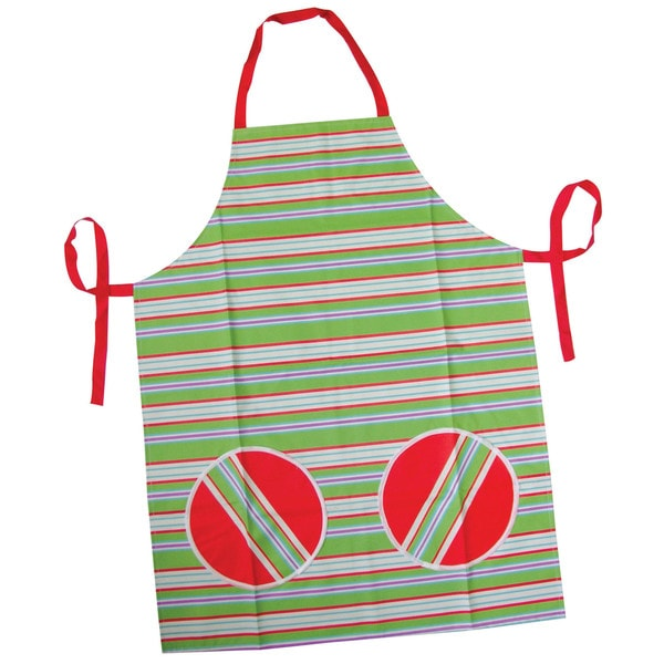 White, Red, Green Kitchen Apron