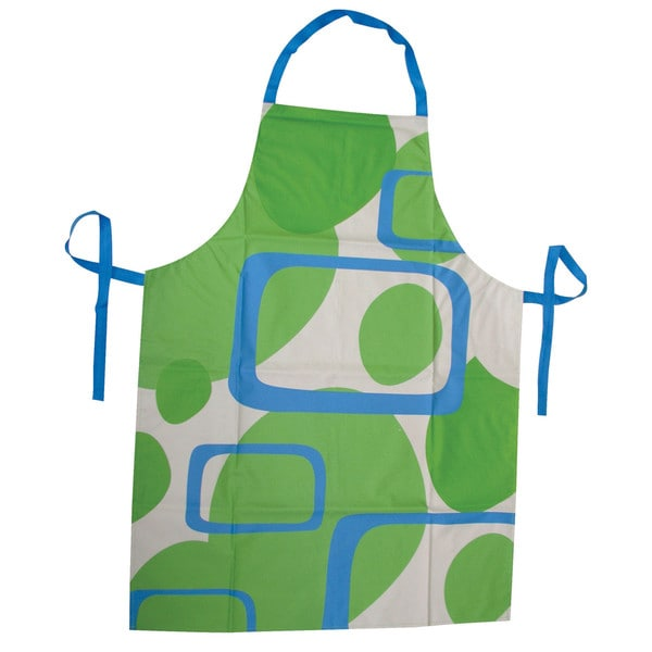 Blue, White, Green Kitchen Apron