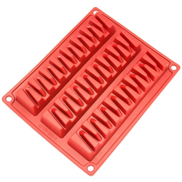 Freshware 3-cavity Zig Zag Silicone Mold