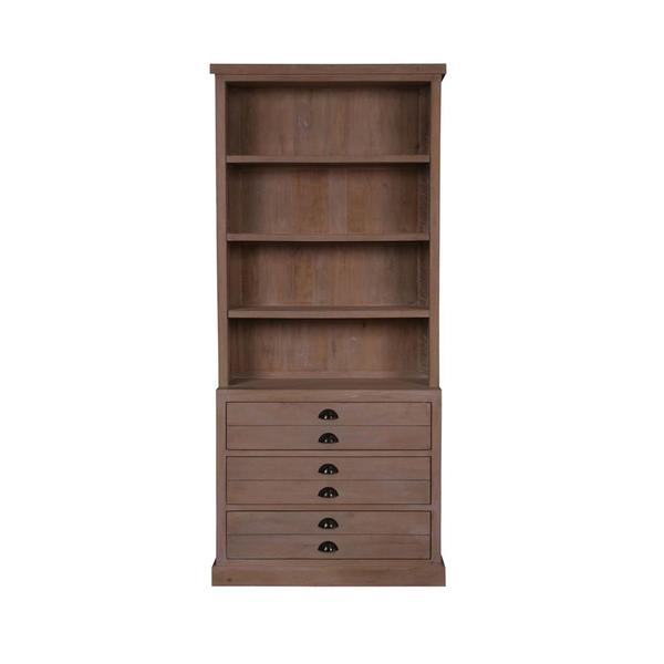 Florence Rustic Natural Bookcase