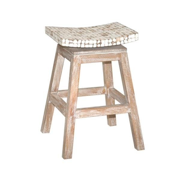 Welland Casual White Bar Stool