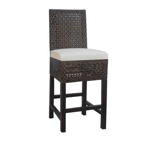 Brossard Traditional Brown Textured Barstool