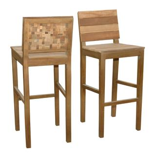 Windsor Contemporary Tan Washed Bar Stool