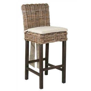 Unity Casual Brown Rattan Barstool