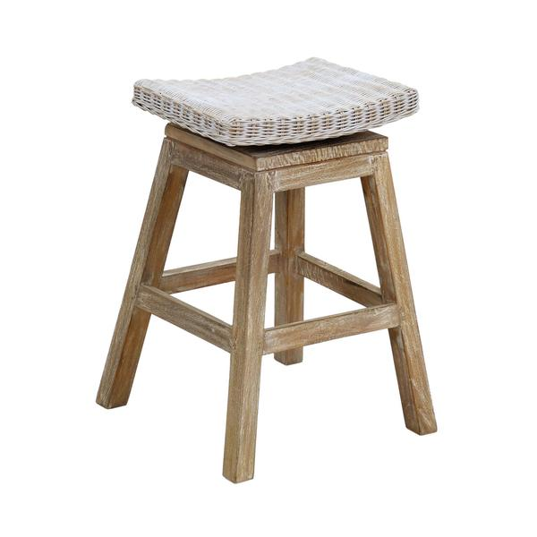 Sammamish Rustic Off-white Textured Bar Stool