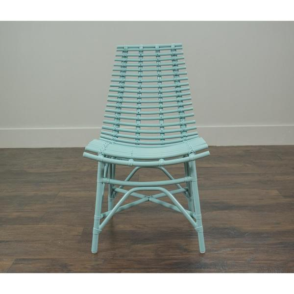 Carson Modern Blue Washed Chair