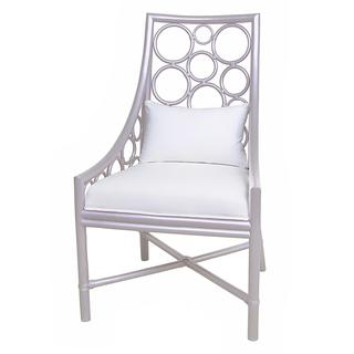 Davenport Contemporary Silver Polished Chair