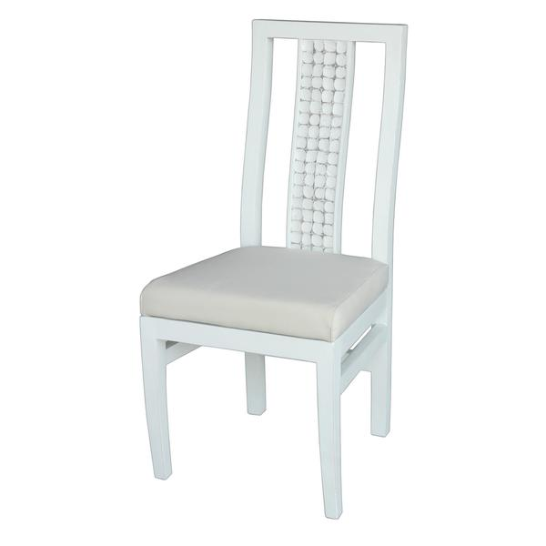 Burnaby Transitional White Dining Chair