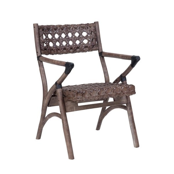 Hines Rustic Grey Distressed Chair