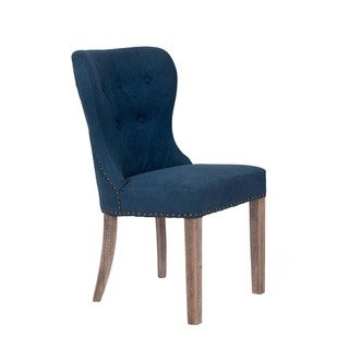 Winlock Contemporary Blue Upholstered Accent Dining Chair
