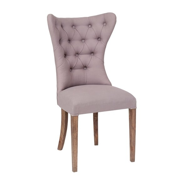 Tieton Transitional Grey Cloth Chair
