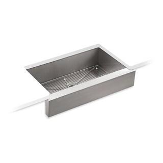 "Kohler Vault 35-1/2"" X 21-1/4"" X 9-5/16"" Undermount Single-Bowl Farmhouse Kitchen Sink for 36"" Cabinet (K-3943-NA)"