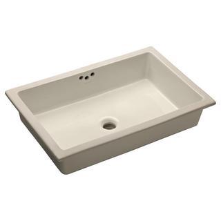 Kohler Marrakesh Undermount Vitreous China Tabletop Bathroom Sink In Biscuit 17525068