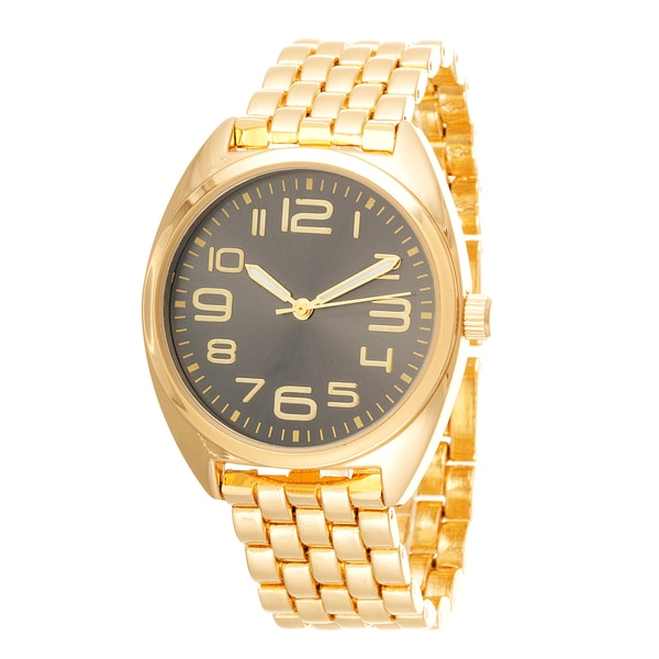 Fortune NYC Boyfriend Gold Case & Black Dial / Gold Strap Watch