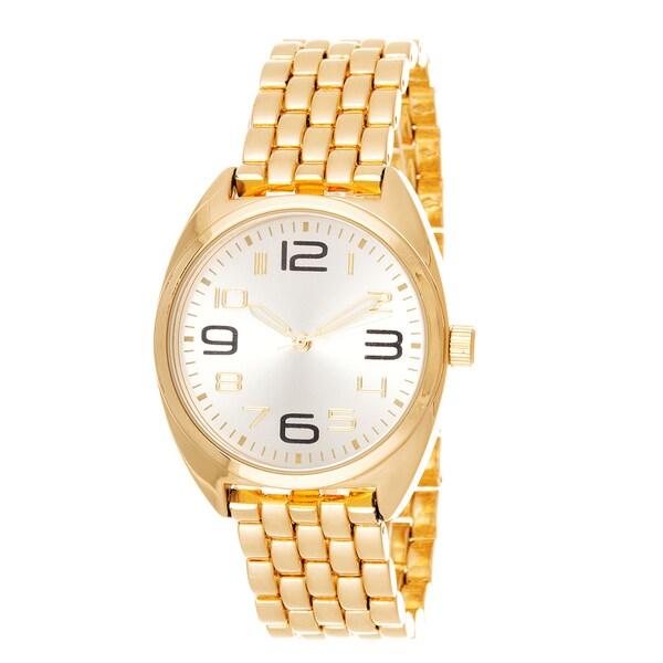 Fortune NYC Boyfriend Gold Case / Gold Strap Watch