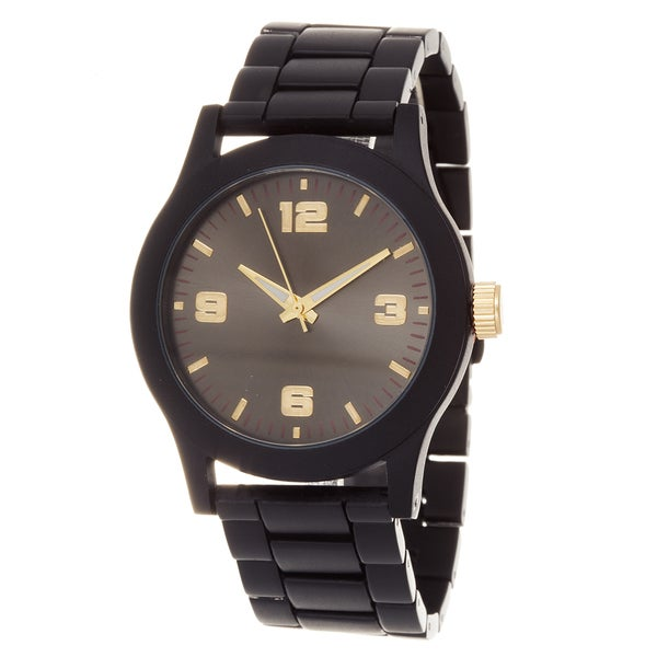 Fortune NYC Ladies Black Case & Dial / Black Strap Watch