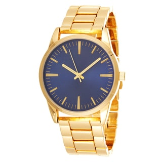 Fortune NYC Men's Gold Case & Blue Dial / Gold Strap Watch
