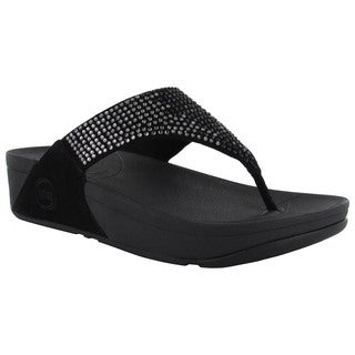 FitFlop Womens Flare Leather Thong Flip Flops