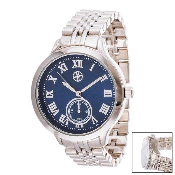 Fortune NYC Boyfriend Dark Blue Dial / Silver Case & Strap Watch